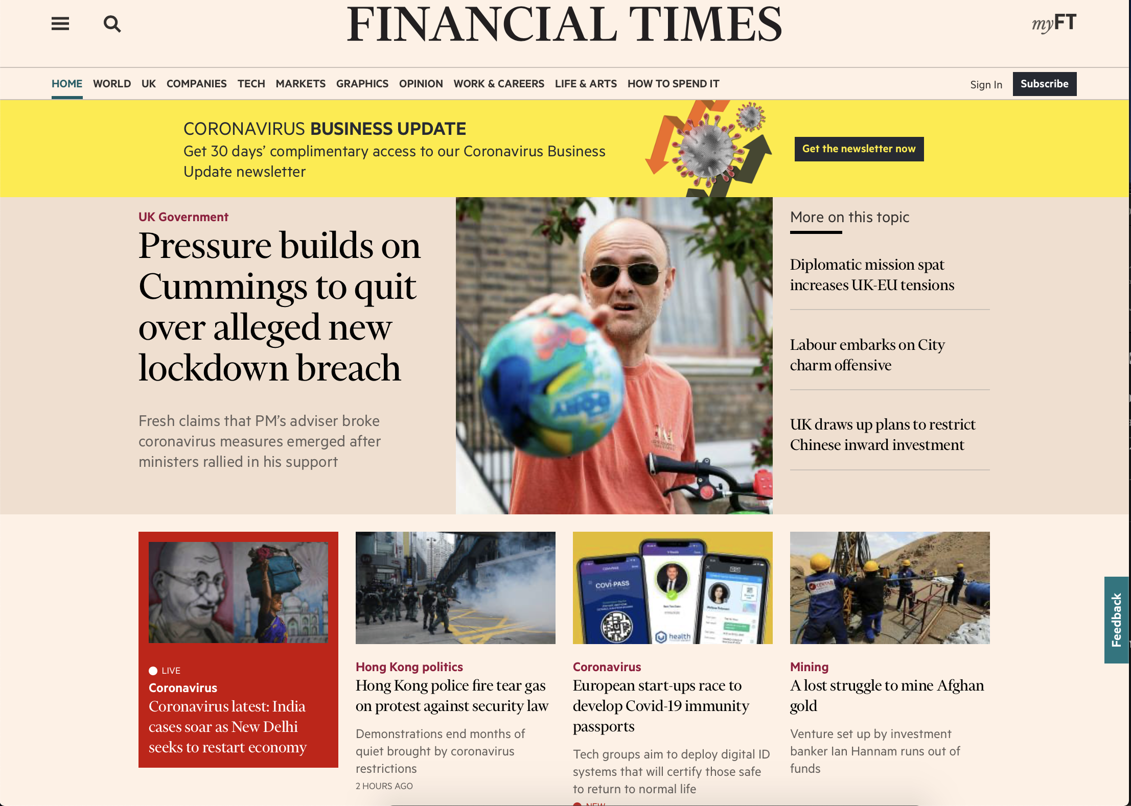 Financial Times - Immunity Passport