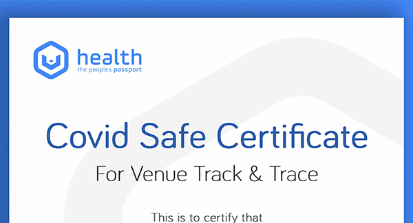 V-Health Passport™ - Venue Certificate